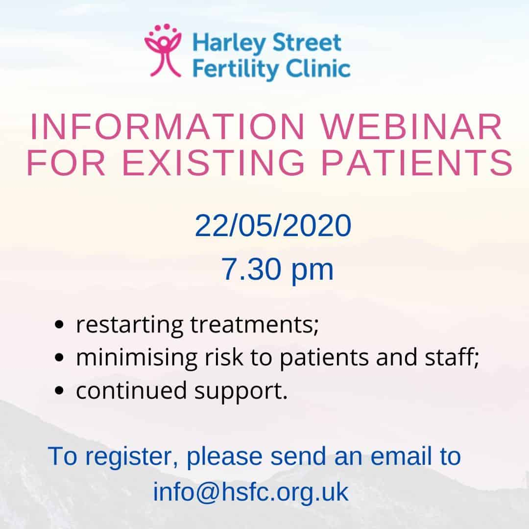 Registration now open for our Information Webinar (existing patients)