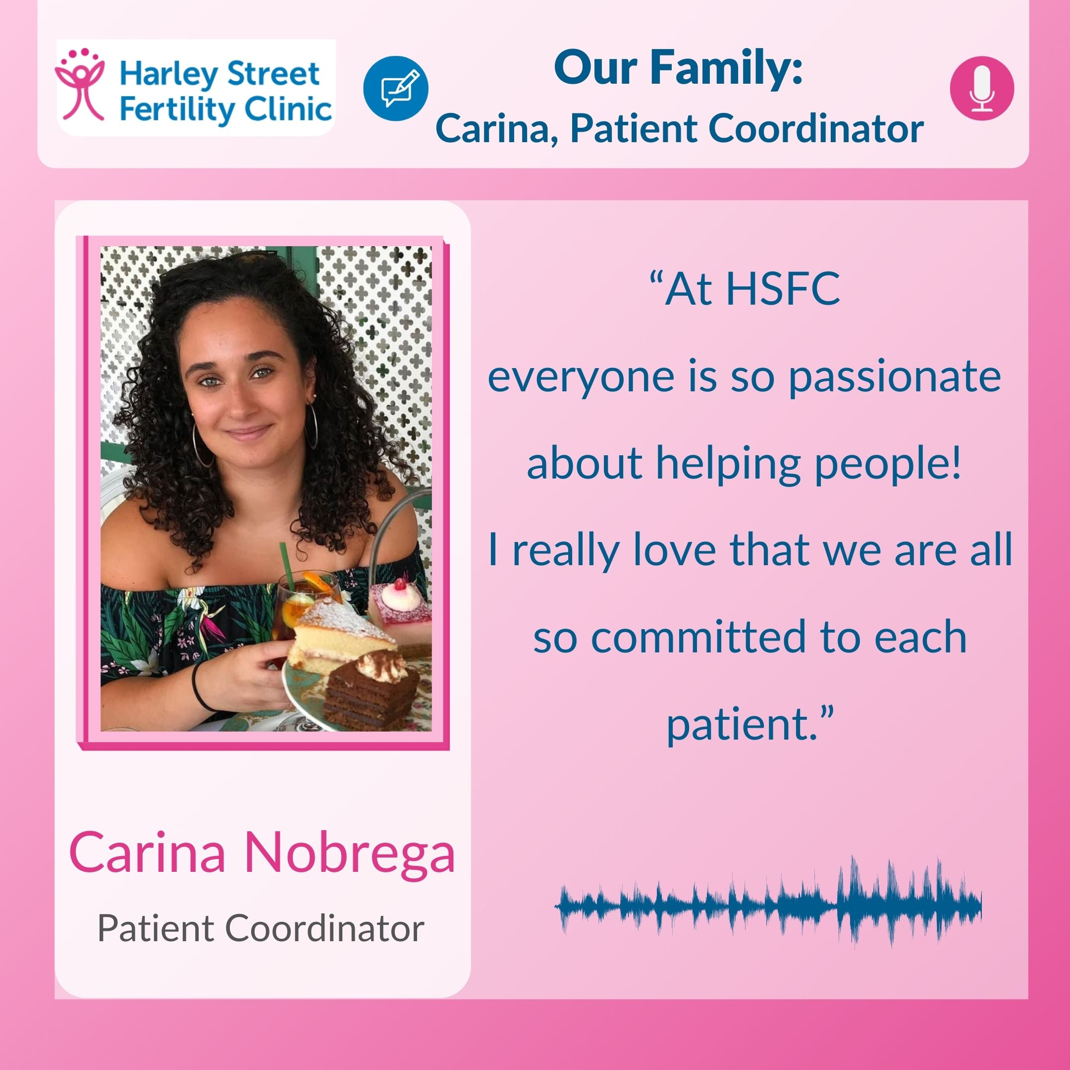 Our family: Carina, Patient Coordinator HSFC