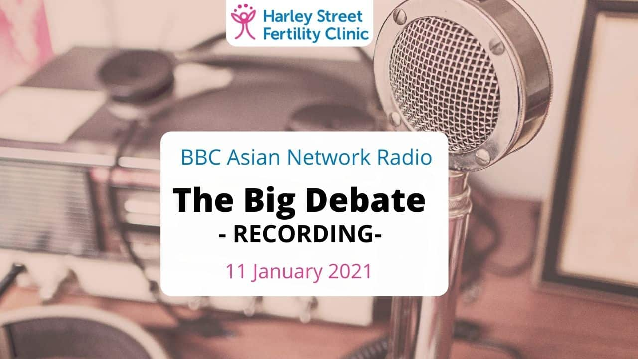 Dr Venkat, on BBC Radio Asian Network, answering questions about Covid-19 vaccine, fertility and pregnancy