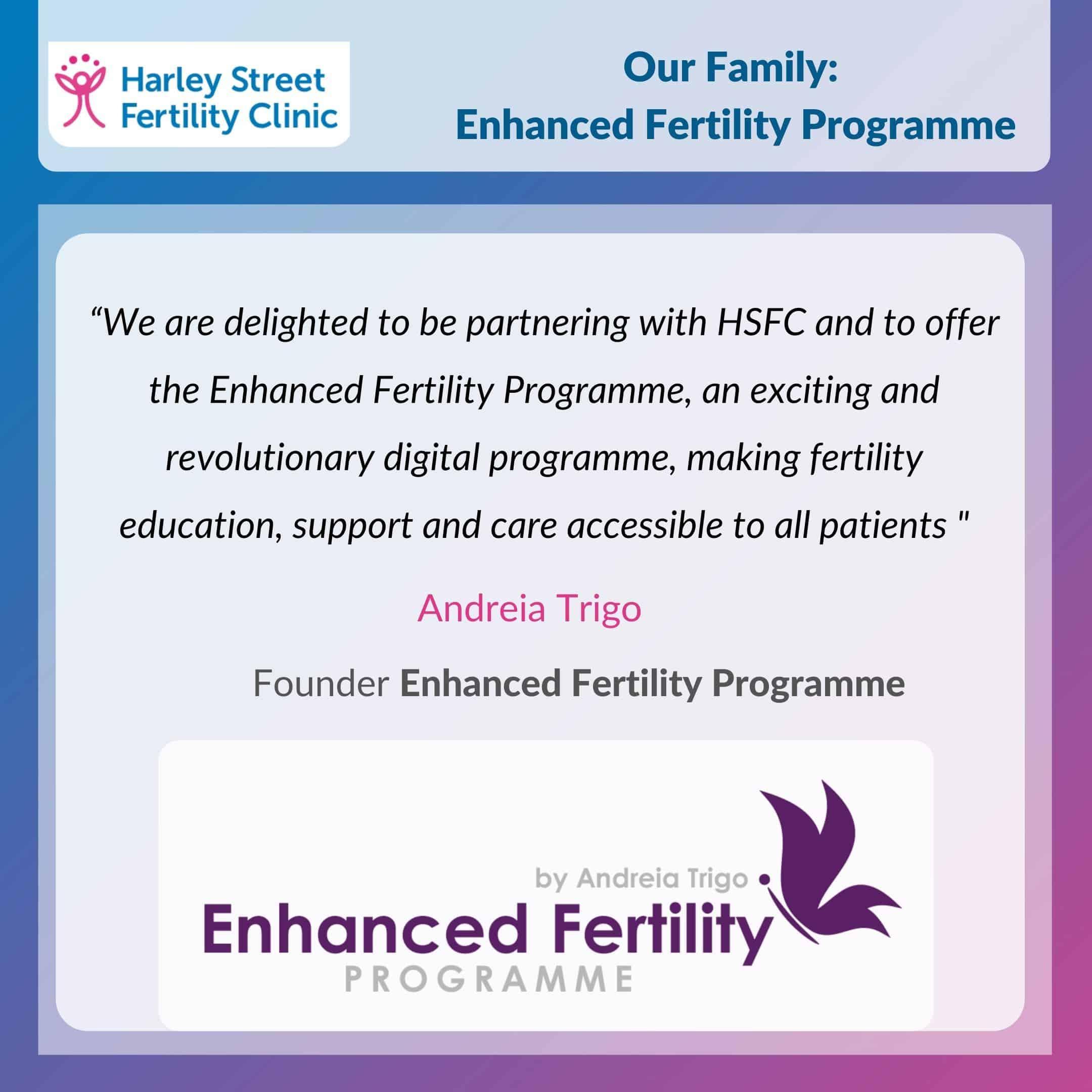 Our family: The Enhanced Fertility Programme