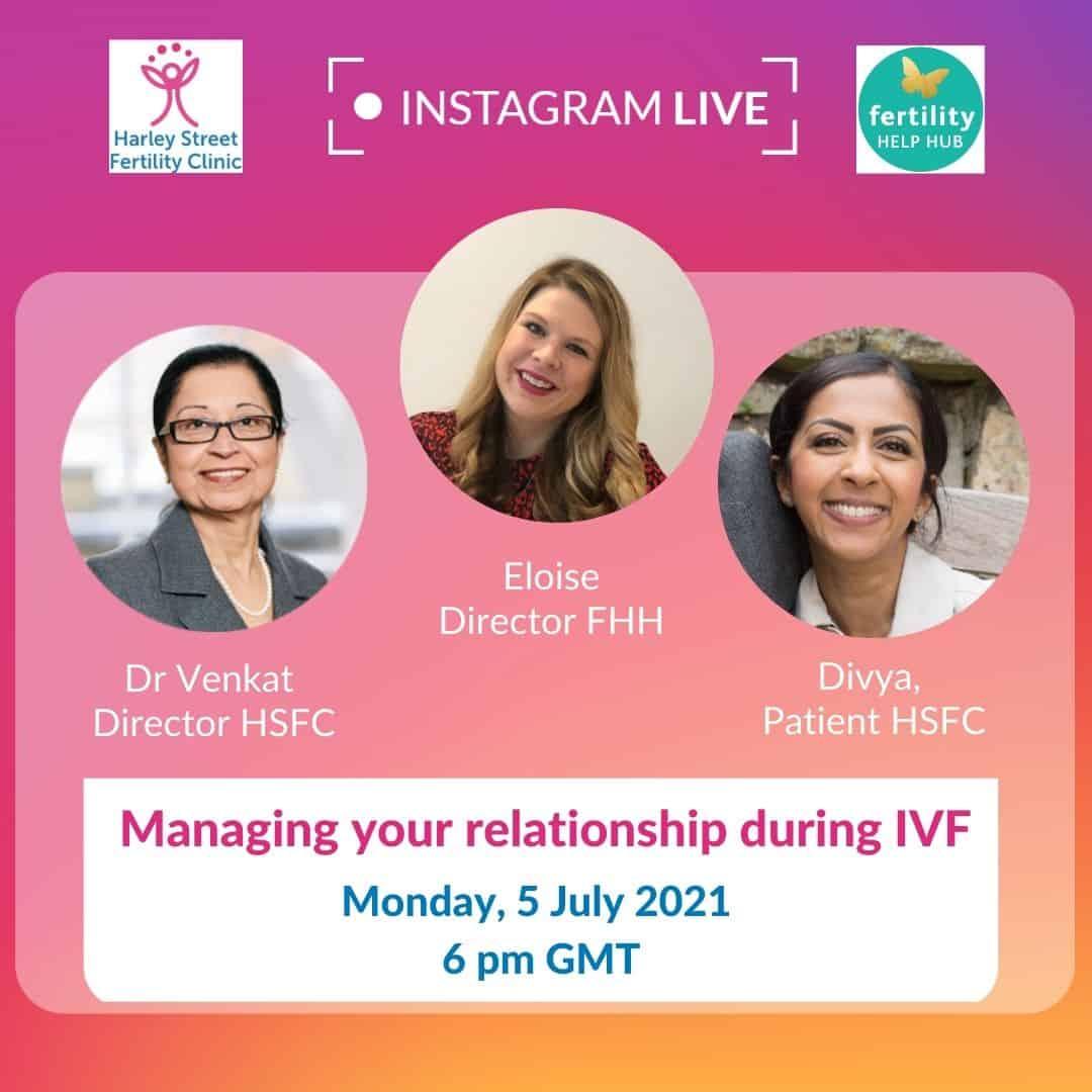 Instagram live – IVF and relationships