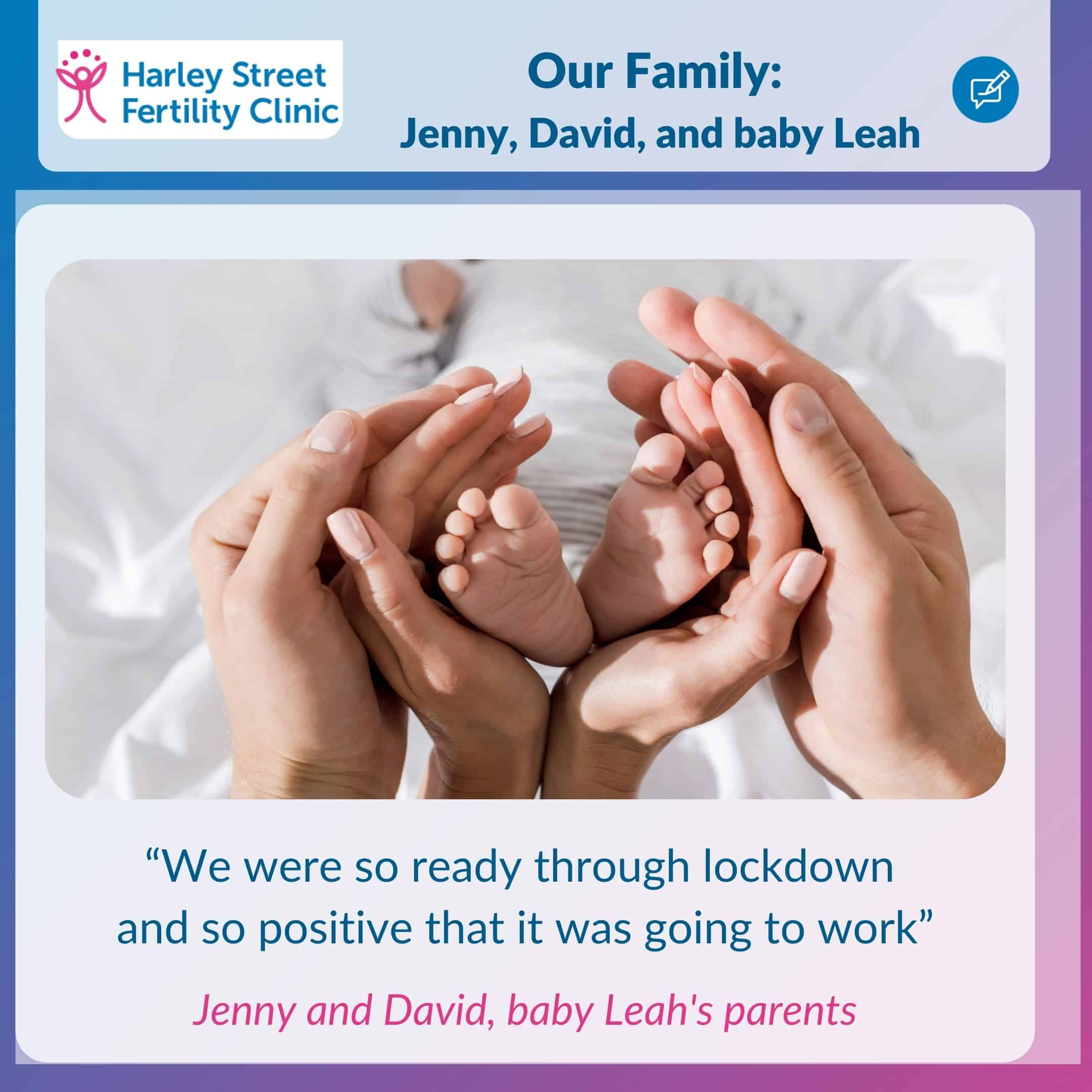 Our family: Jenny, David and baby Leah